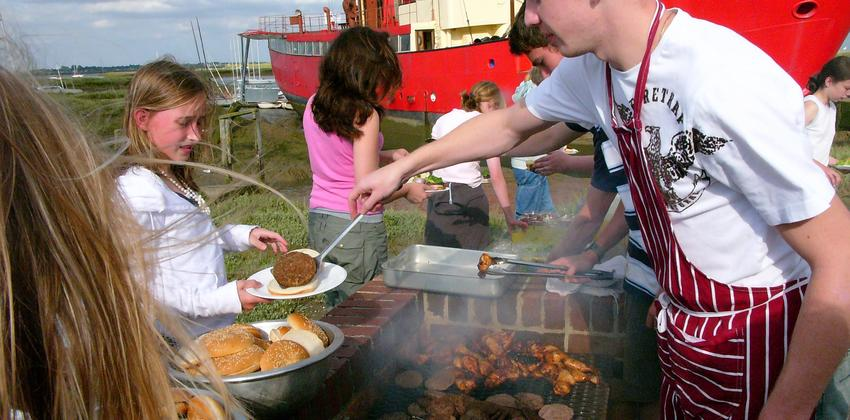 Barbecue at Fellowship Afloat