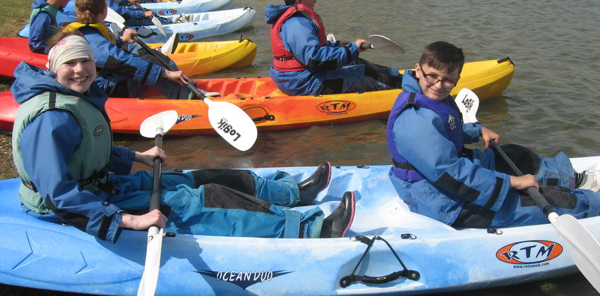 Kayaking at Fellowship Afloat