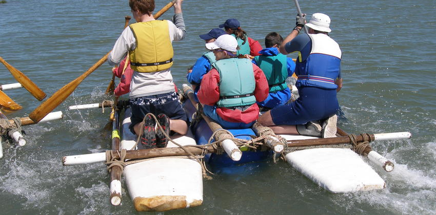 Rafting at Fellowship Afloat